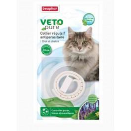 Beaphar VETOpure collier répulsif antiparasitaire pour chat et chaton blanc - La Compagnie Des Animaux