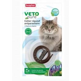 Beaphar VETOpure collier répulsif antiparasitaire pour chat et chaton marron - La Compagnie Des Animaux