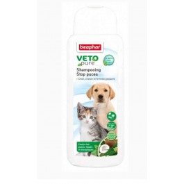 Beaphar VETOpure Shampooing Stop puces 250 ml - La Compagnie Des Animaux