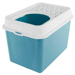 Berty Cat Toilet Top Rotho Mypet Turquoise - La Compagnie Des Animaux