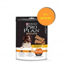 Biscuits Proplan au poulet 400 grs 3 sachets + 1 OFFERT - La Compagnie Des Animaux