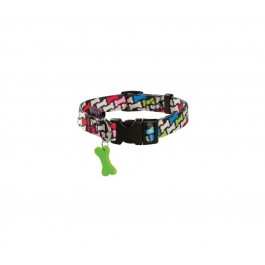 Collier Bobby Carnaval multicolore S 25/40 cm - La Compagnie Des Animaux