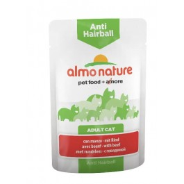 Almo Nature Chat Anti Hairball Boeuf 30 x 70 grs - La Compagnie Des Animaux