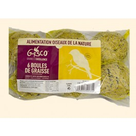 Gasco Boules de graisse pour oiseaux de jardin x 6 - La Compagnie Des Animaux