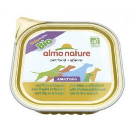 Almo Nature Chien Daily Menu Bio Poulet et Brocoli 9 x 300 grs - La Compagnie Des Animaux