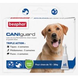Beaphar Caniguard grand chien 15 - 30 kg 6 pipettes - La Compagnie Des Animaux