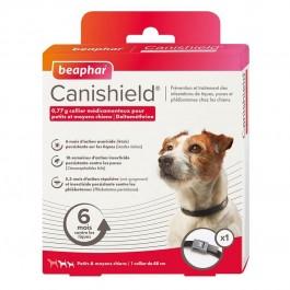 Beaphar Canishield collier petit chien contre les puces, tiques et moustiques 48 cm - La Compagnie Des Animaux