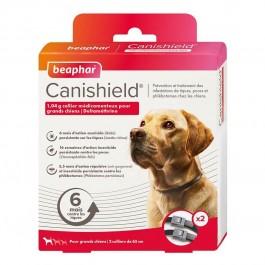 Beaphar Canishield collier grand chien contre les puces, tiques et moustiques 65 cm x2 - La Compagnie Des Animaux
