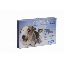 Capstar 11.4 mg pour chat et petit chien - La Compagnie Des Animaux