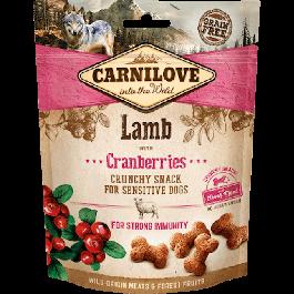 Carnilove Crunchy Snack Agneau & Cranberries chien 200 g - La Compagnie Des Animaux