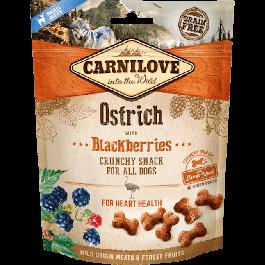 Carnilove Crunchy Snack Autruche & Mûres chien 200 g - La Compagnie Des Animaux