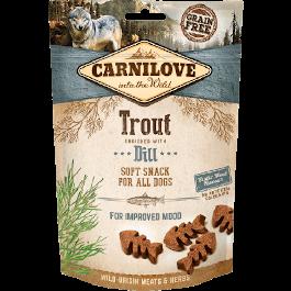 Carnilove Friandises Semi-Humides Truite & Aneth chien 200 gr - La Compagnie Des Animaux