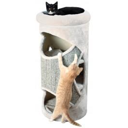 Trixie Cat Tower Gracia pour Chat Diam 38 x H 85 cm Gris clair - La Compagnie Des Animaux