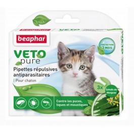 Beaphar VETOpure 3 Pipettes répulsives antiparasitaires chaton - La Compagnie Des Animaux