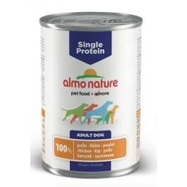 Almo Nature Chien Single Protein Poulet 24 x 400 grs - La Compagnie Des Animaux