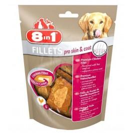 8in1 Fillets Pro Skin & Coat pour chien 80 g - La Compagnie Des Animaux