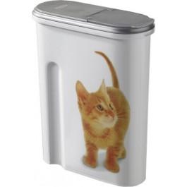 Container à croquettes 1.5 kg Curver modèle chat - La Compagnie Des Animaux