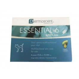 Dermoscent Essential 6 Chat 4 pipettes - La Compagnie Des Animaux