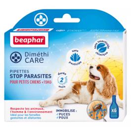 Beaphar Diméthicare Stop Parasites 6 pipettes pour petit chien <15 kg - La Compagnie Des Animaux