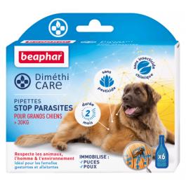 Beaphar Diméthicare Stop Parasites 6 pipettes pour chien > 30 kg - La Compagnie Des Animaux