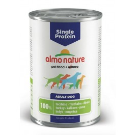 Almo Nature Chien Single Protein Dinde 24 x 400 grs - La Compagnie Des Animaux