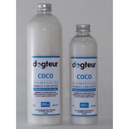 Offre Dogteur: 1 Shampooing PRO Dogteur Huile de Coco 5 L acheté = 1 gant de toilettage offert - La Compagnie Des Animaux