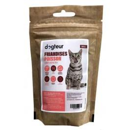 Dogteur Friandises sans céréales au poisson Chat 100 g - La Compagnie Des Animaux