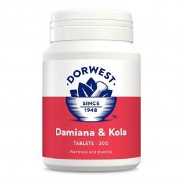 Dorwest Damiana et Noix de Kola 200 cps - La Compagnie Des Animaux