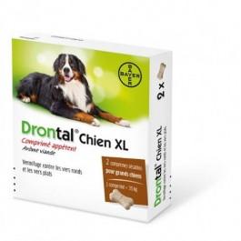 Drontal P XL vermifuge chien gout viande 2 Cps - La Compagnie Des Animaux