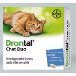 Drontal Chat Duo 2 Cps - La Compagnie Des Animaux