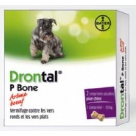 Drontal P Bone chien gout viande 2 Cps - La Compagnie Des Animaux