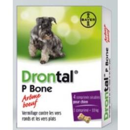 Drontal Chien arome viande 4 Cps - La Compagnie Des Animaux