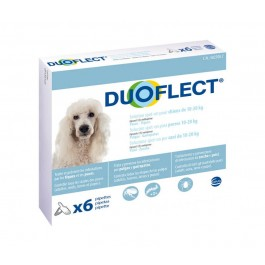 Duoflect Chiens 10-20 kg 6 pipettes - 12 mois - La Compagnie Des Animaux