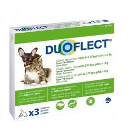 Duoflect Chien 2-10 kg et chat > 5kg 3 pipettes - 6 mois - La Compagnie Des Animaux