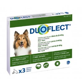 Duoflect Chiens 20-40 kg 3 pipettes - 6 mois - La Compagnie Des Animaux