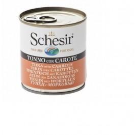 Schesir Thon avec carottes en gelée pour chien 16 x 285 g - La Compagnie Des Animaux