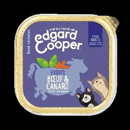 Edgard & Cooper Exquis Boeuf & Canard pour chat adulte 19 x 85 g - La Compagnie Des Animaux