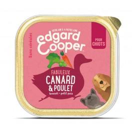 Edgard & Cooper Barquette Poulet & Canard Chiot 11 x 150 g - La Compagnie Des Animaux