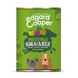 Edgard & Cooper Boite Agneau et Bœuf Chien adulte 6 x 400 g - La Compagnie Des Animaux