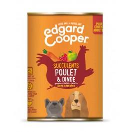 Edgard & Cooper Boite Poulet et Dinde Chien adulte 6 x 400 g - La Compagnie Des Animaux