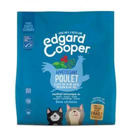 Edgard & Cooper Apetissant Poulet & Poisson Blanc MSC croquettes sans céréales pour chat senior 300 g - La Compagnie Des Animaux