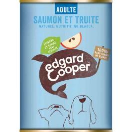 Edgard & Cooper Boite Saumon & Truite Epinards & Pommes Chien adulte 6 x 400 g - La Compagnie Des Animaux