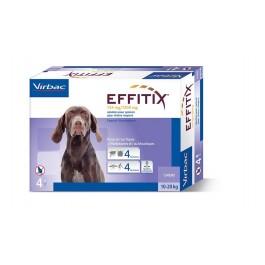 Effitix Spot On moyen chien 10 - 20 kg 4 pipettes - La Compagnie Des Animaux