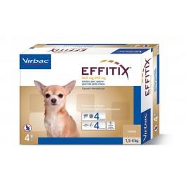 Effitix Spot On très petit chien 1.5 - 4 kg 4 pipettes - La Compagnie Des Animaux