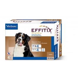 Effitix Spot On très grand chien 40 - 60 kg 4 pipettes - La Compagnie Des Animaux