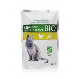 Equilibre & Instinct Emincés BIO volaille pour chat pochon 22 x 100 g