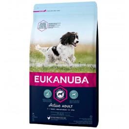 Eukanuba Chien Active Adult Moyenne Race au poulet 3 kg - La Compagnie Des Animaux
