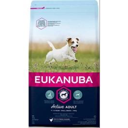 Eukanuba Chien Active Adult Petite Race au poulet 3 kg - La Compagnie Des Animaux