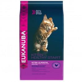 Eukanuba Chaton Healthy Start Kitten 1-12 mois 2 kg - La Compagnie Des Animaux