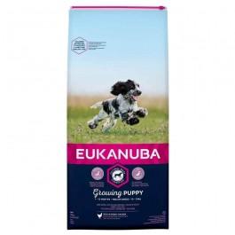 Eukanuba Growing Puppy Moyenne Race au poulet 12 kg - La Compagnie Des Animaux